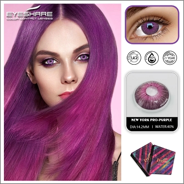colored contact lenses - purple