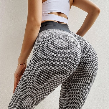 Honeycomb Print Sports Leggings