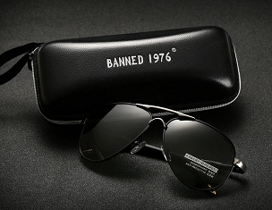Mens Banned 1976 Designer Sunglasses (7 Colors)