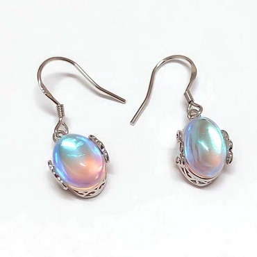 Moonstone Teardrop Dangle Earrings